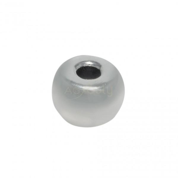 Pieza de montaje en plata, modelo donut.13x9mm int.4mm