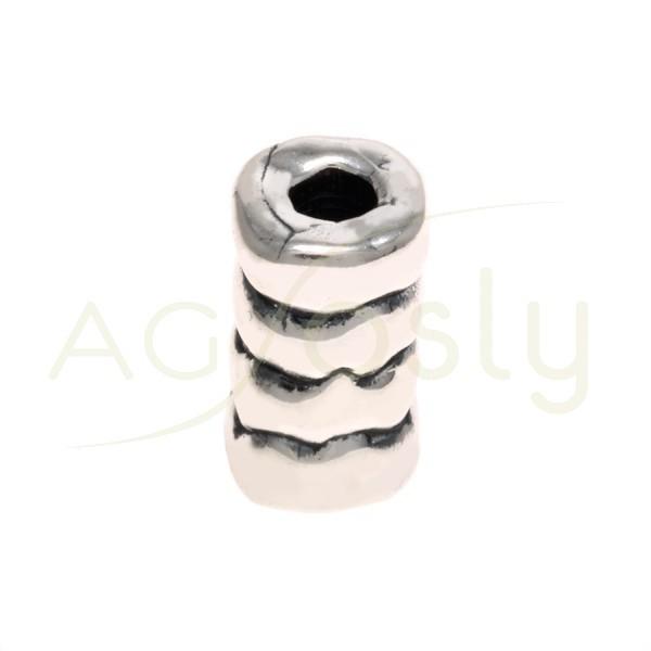 Entrepieza cilindro con textura.23mm Int.5mm
