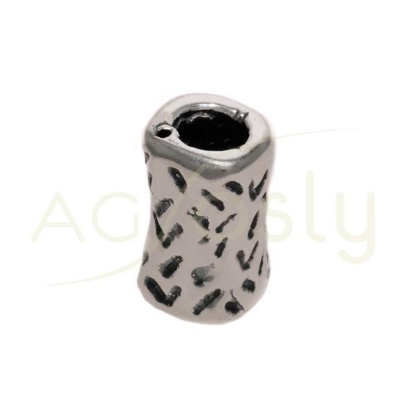 Entrepieza cilindro con textura.18mm Int.6mm
