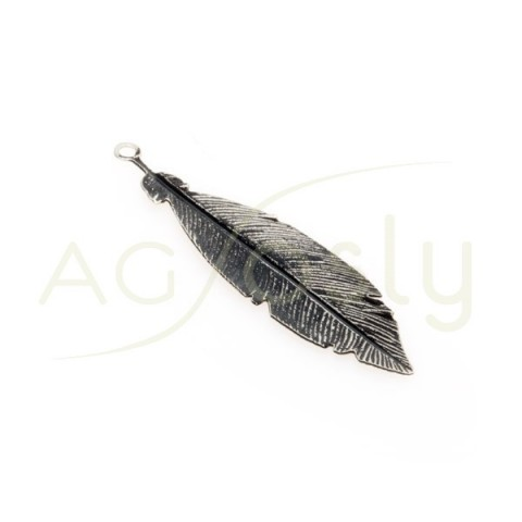 Pieza de montaje rodiado negro modelo pluma pequeña.30mm