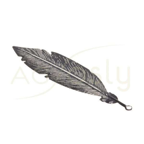 Pieza de montaje rodiado marrón modelo pluma grande.57mm