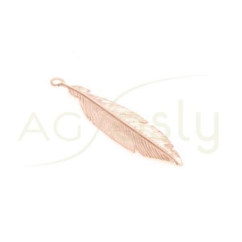 Pieza de montaje chapado rosa modelo pluma pequeña.30mm