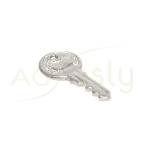 Pieza de montaje rodiada modelo llave.15x7mm