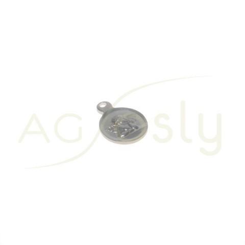 Pieza de montaje rodiada medalla modelo angel.8mm