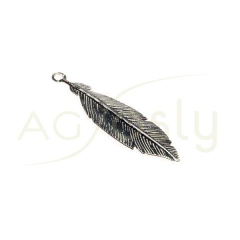 Pieza de montaje modelo pluma en negro.30mm