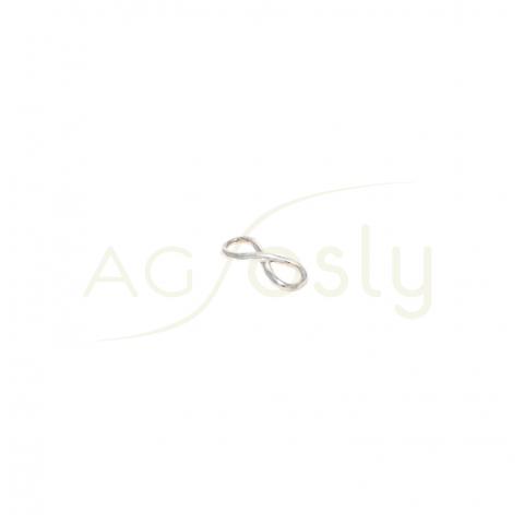 Pieza de montaje en plata, modelo infinito.23mm