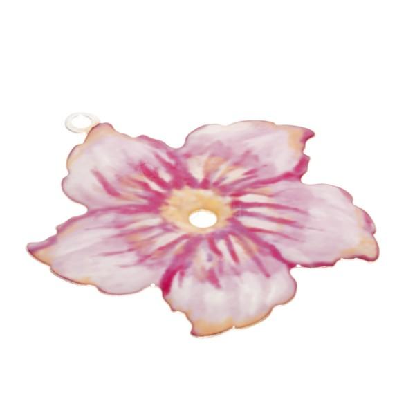 Pieza de montaje esmalte modelo flor rosa.34mm