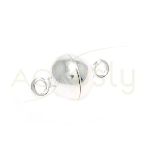 Cierre iman bola con dos anillas.10mm