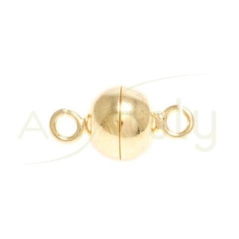 Cierre iman chapada con terminación en anilla.8mm