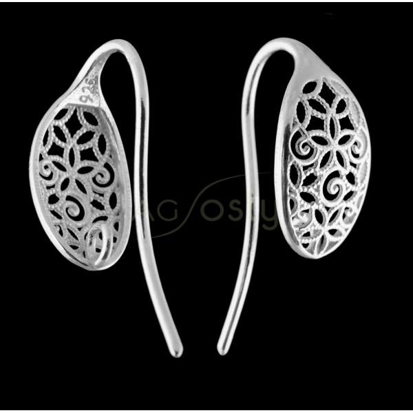 Gancho pendiente oval calado rodiado con anilla.16mm