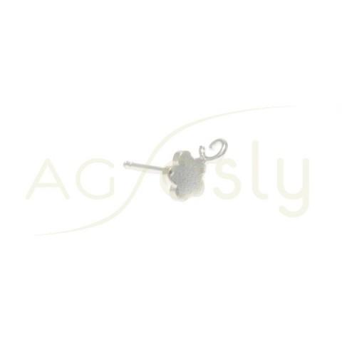 Base pendiente modelo flor plana con anilla.6mm