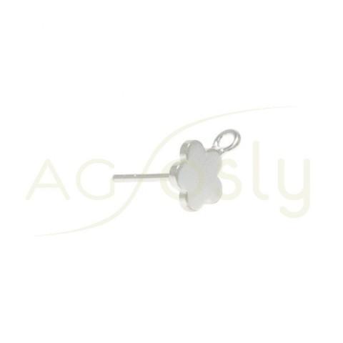 Base pendiente modelo flor plana con anilla.8mm