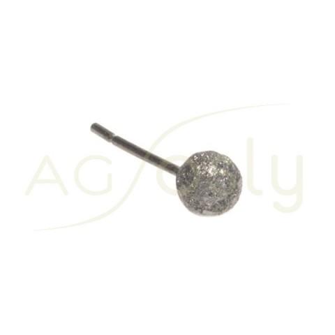 Base pendiente con baño de rutenio bola diamantada.5mm