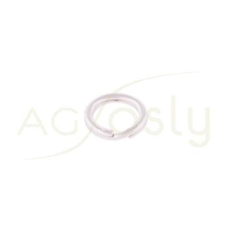 Anilla espiral en plata.18mm