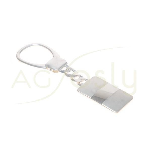 Llavero plata con cadena barbada.97mm