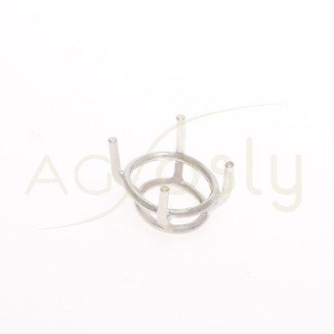 Galeria de 4 grapas para talla oval.12,2x10mm