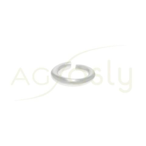 Anilla abierta plata secci¢n redonda.1x5,5mm