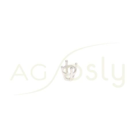 Galeria de 4 grapas para tallas redondas.4mm