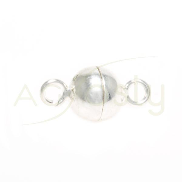 Cierre iman modelo bola con anillas.6mm