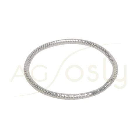 Anilla soldada picada/diamantada con sección redonda. 20mm hilo de 1,5mm