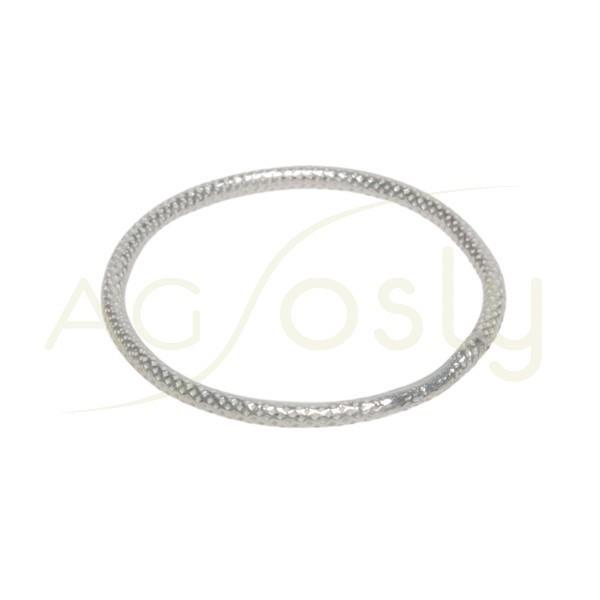 Anilla soldada picada/diamantada. 1,4x24mm