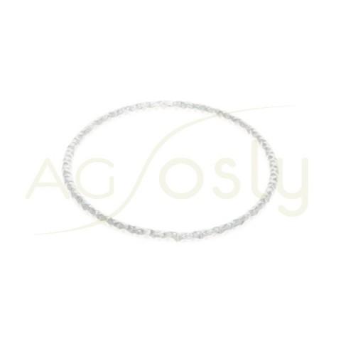 Anilla soldada diamantada con sección redonda. 26mm hilo de 1,5mm