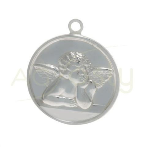 Medalla para esmaltar, modelo angel.24mm