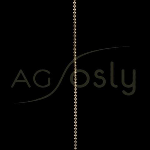 Cadena oro bolas 18 en 40cm.