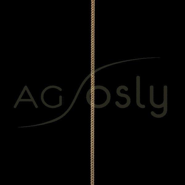 Cadena oro barbada diamantada 050 en 45cm.