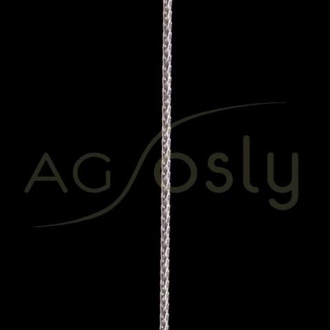 Cadena oro blanco modelo spiga hueca 65 en 60cm.