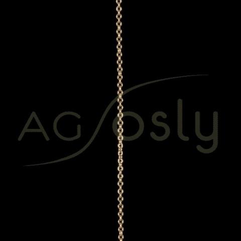 Cadena oro forzada 050 en 50cm.