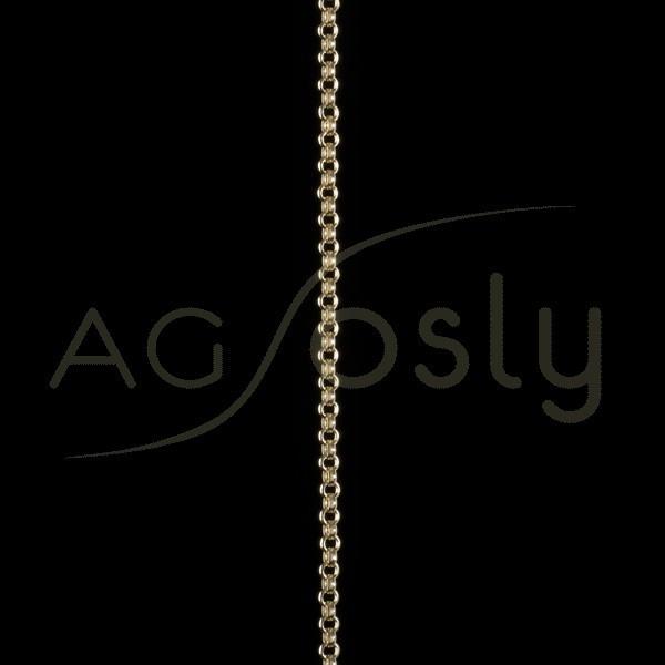 Cadena oro rolo hueca 027 en 50cm.