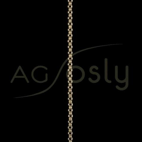 Cadena oro rolo hueca 027 en 60cm.