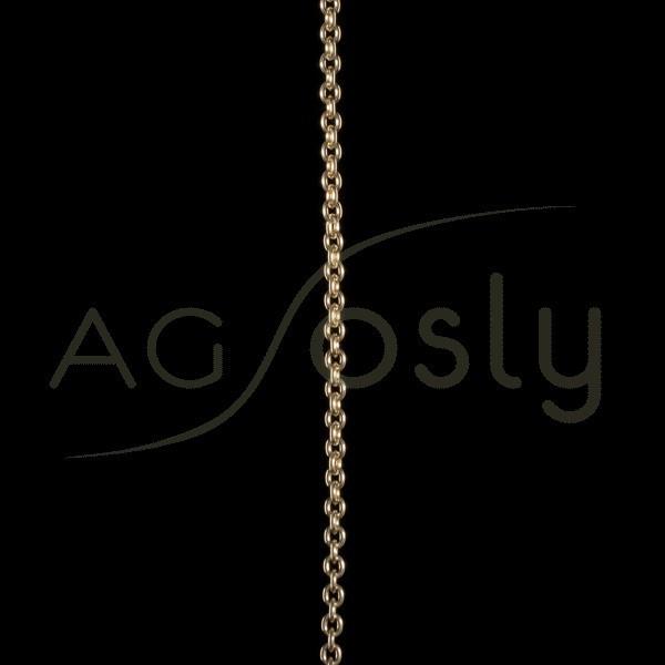 Cadena oro forzada 070 en 60cm.