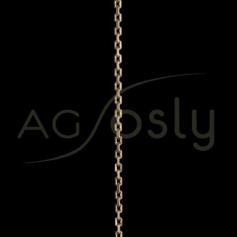 Cadena oro forzada diamantada 080 en 60cm.
