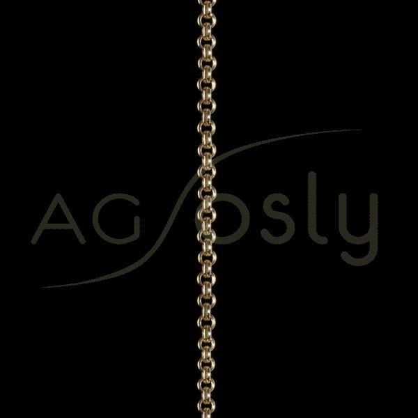 Cadena oro rolo hueca 040 en 60cm.