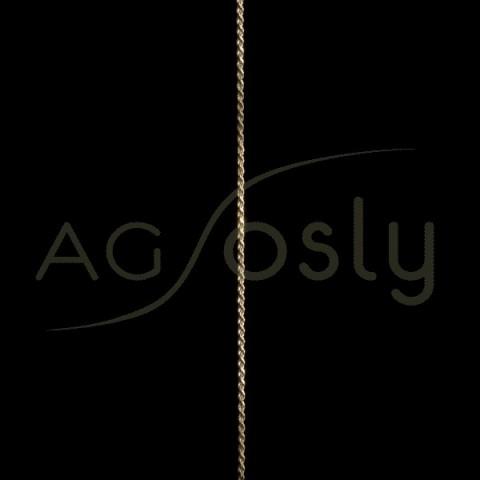 Cadena oro cordón salomónico 015 en 50cm.