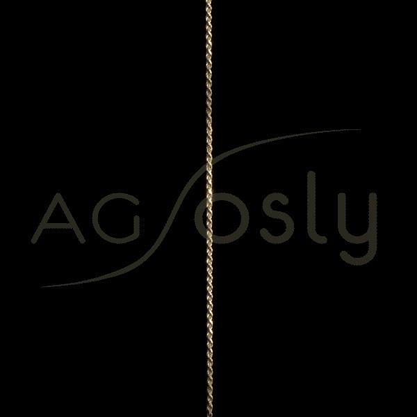 Cadena oro cordón salomónico 015 en 40cm.