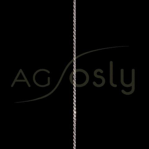 Cadena oro blanco modelo cordón salomónico 15 en 45cm.