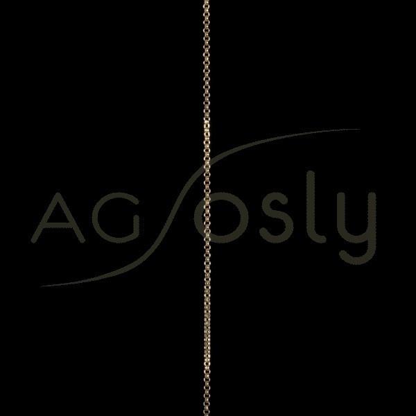 Cadena oro rolo 015 en 60cm.
