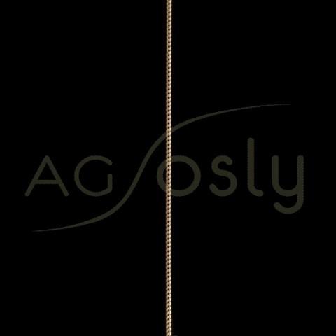 Cadena oro barbada cuadrada 2040-200 en 45cm.