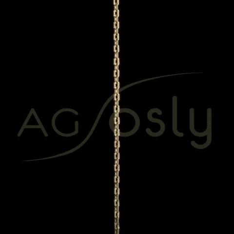 Cadena oro forzada diamantada 070 en 50cm.
