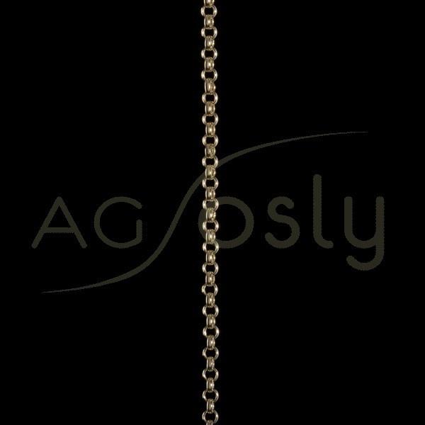 Cadena oro rolo hueca 035 en 40cm.