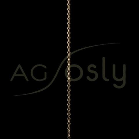 Cadena oro forzada 060 sin montar.(50cm)