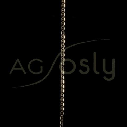 Cadena oro, modelo forzada en 45cm.