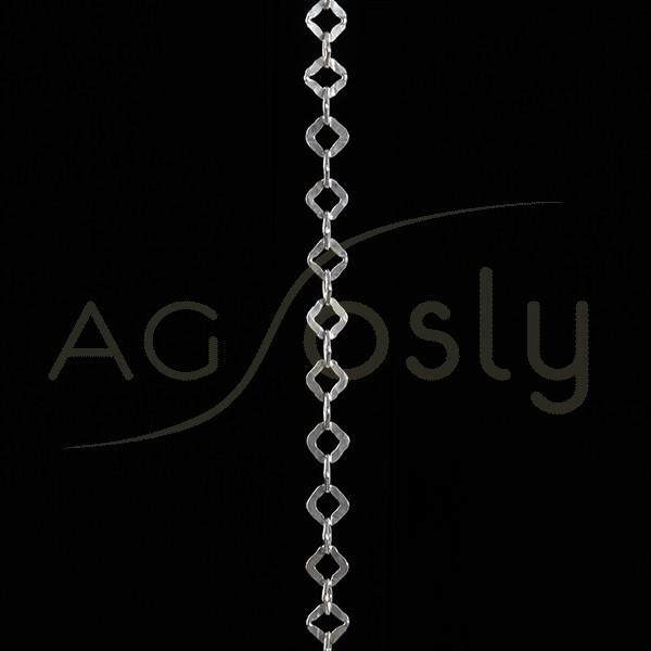 Cadena plata modelo fantasía con textura