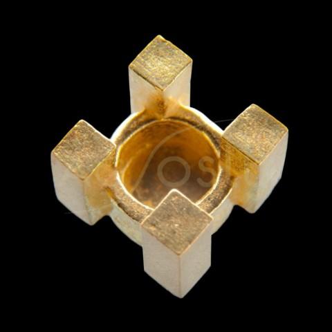 Galeria cuadrada,en oro.5,6mm