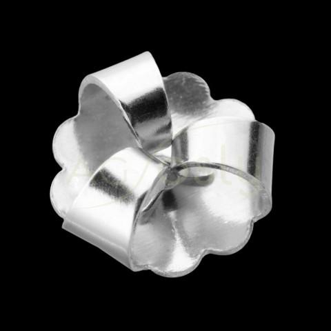 Cierre presión de tres patas en oro blanco.9mm