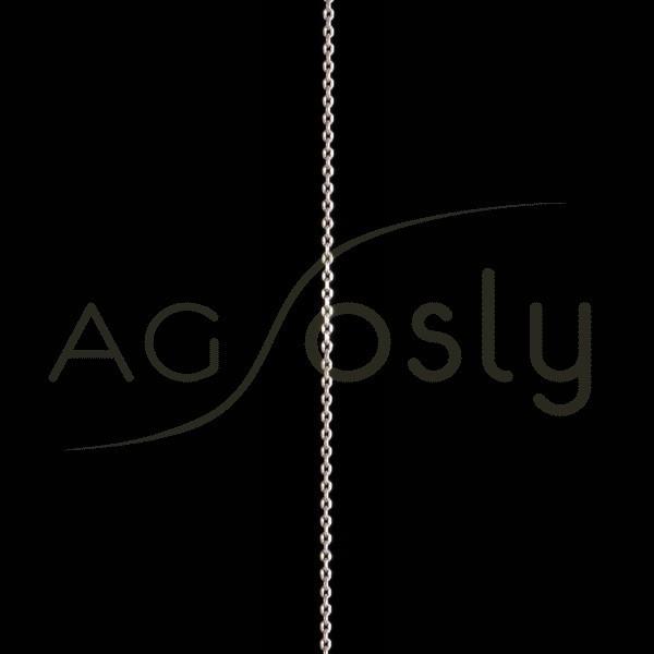 Cadena plata montada, modelo forzada diamantada 040 en 45cm.