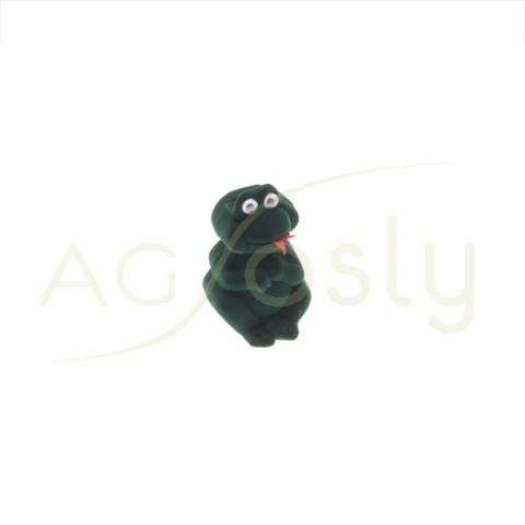 Estuche para anillo, modelo en forma de rana de color verde.